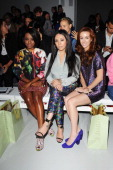 MKS singers Keisha Buchanan Mutya Buena and Siobhan Donaghy attend the Sister By Sibling show during London Fashion Week SS14 at BFC Courtyard...
