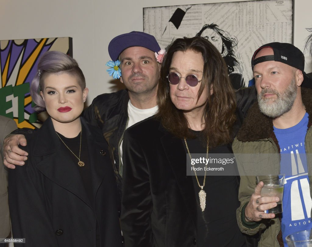 Singers Kelly Osbourne, Danny Minnick, Ozzie Obourne, and Fred Durst attend Billy Morrison and Plastic Jesus's 'Anesthesia - The Art Of Oblivion' opening reception at Gibson Brands Sunset on February 24, 2017 in Los Angeles, California.