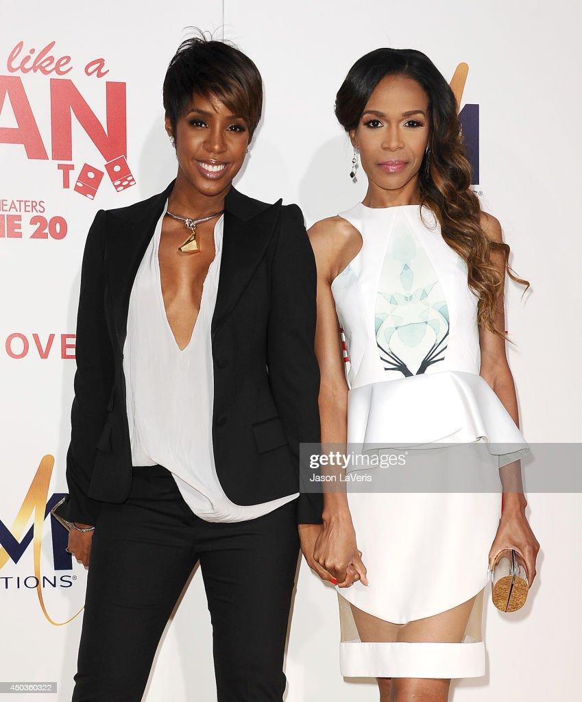 Singers Kelly Rowland and Michelle Williams attend the premiere of 'Think Like A Man Too' at TCL Chinese Theatre on June 9, 2014 in Hollywood, California.