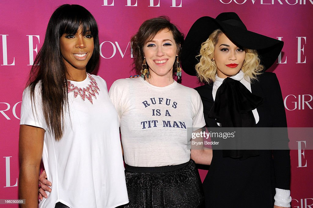 Singers <a gi-track='captionPersonalityLinkClicked' href=/galleries/search?phrase=Kelly+Rowland&family=editorial&specificpeople=201760 ng-click='$event.stopPropagation()'>Kelly Rowland</a>, <a gi-track='captionPersonalityLinkClicked' href=/galleries/search?phrase=Martha+Wainwright&family=editorial&specificpeople=539878 ng-click='$event.stopPropagation()'>Martha Wainwright</a> and <a gi-track='captionPersonalityLinkClicked' href=/galleries/search?phrase=Rita+Ora&family=editorial&specificpeople=5686485 ng-click='$event.stopPropagation()'>Rita Ora</a> attend the 4th Annual ELLE Women in Music Celebration at The Edison Ballroom on April 10, 2013 in New York City.