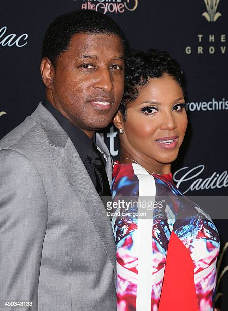 Singers Kenny 'Babyface' Edmonds and Toni Braxton attend The Grove's 11th Annual Christmas Tree Lighting Spectacular at The Grove on November 17 2013...