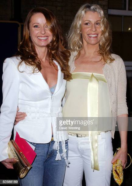Singers Keren Woodward and Sara Dallin of Bananarama attend the live final of the Channel Five reality TV show 'Make Me A Supermodel' at the...