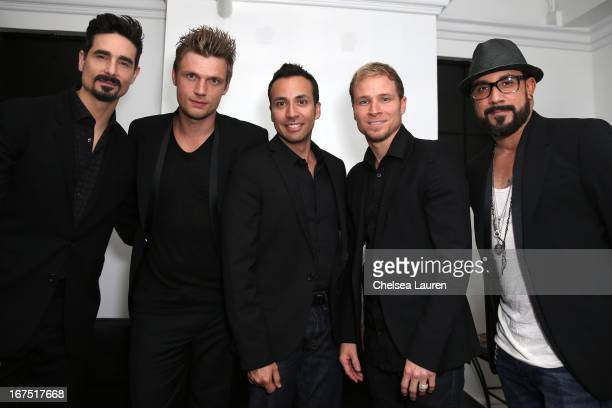 Singers Kevin Richardson Nick Carter Howie Dorough Brian Littrell and AJ McLean of The Back Street Boys attend the Second Annual Hilarity For Charity...
