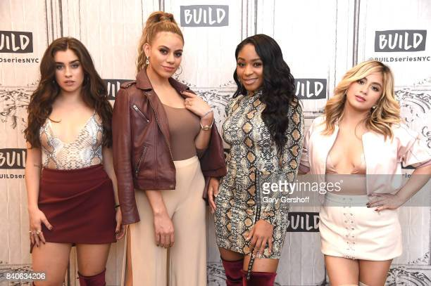 Singers Lauren Jauregui Dinah Jane Normani Kordei and Ally Brooke of the group Fifth Harmony visit Build series at Build Studio on August 29 2017 in...