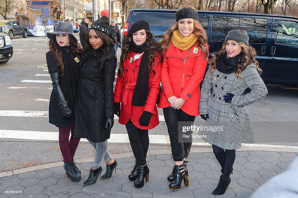 Singers Lauren Jauregui, Normani Kordei, Camila Cabello, Dinah Jane Hansen, and Ally Brooke, of Fifth Harmony attends the 87th Annual Macy's Thanksgiving Day Parade on November 28, 2013 in New York City.