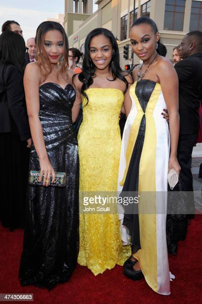 Singers Lauryn McClain China Anne McClain and Sierra McClain attend the 45th NAACP Image Awards presented by TV One at Pasadena Civic Auditorium on...