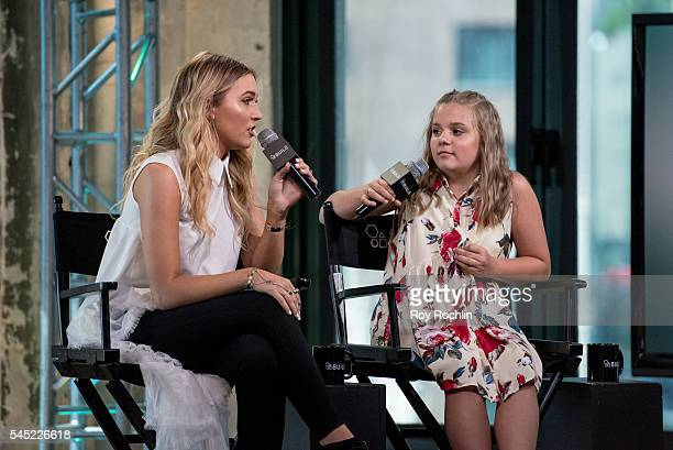 Singers Lennon Stella and Maisy Stella of Lennon Maisy discuss 'Nashville' with AOL Build at AOL Studios In New York on July 6 2016 in New York CityÊ