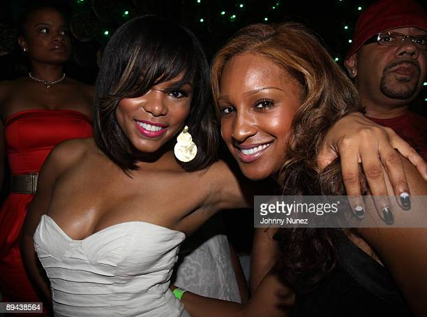 Singers LeToya Luckett and Olivia attend Darrelle Revis' birthday party at Greenhouse on July 28 2009 in New York New York