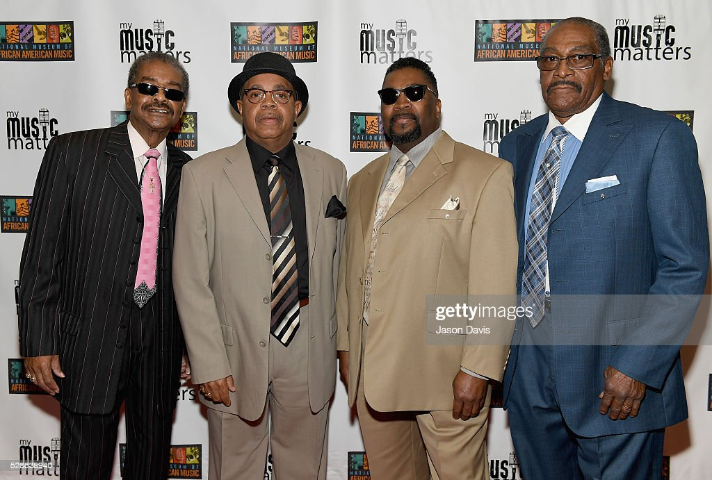 Singers Levert Allison, Bobbye Sherrell, Larrice Byrd and Joseph Thompson of The Fairfield Four attend NMAAM's Celebration Of Legends Red Carpet And Luncheon on May 6, 2016 in Nashville, Tennessee.