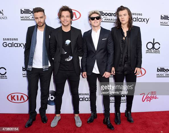 Singers Liam Payne Louis Tomlinson Niall Horan and Harry Styles of One Direction attend the 2015 Billboard Music Awards at MGM Grand Garden Arena on...