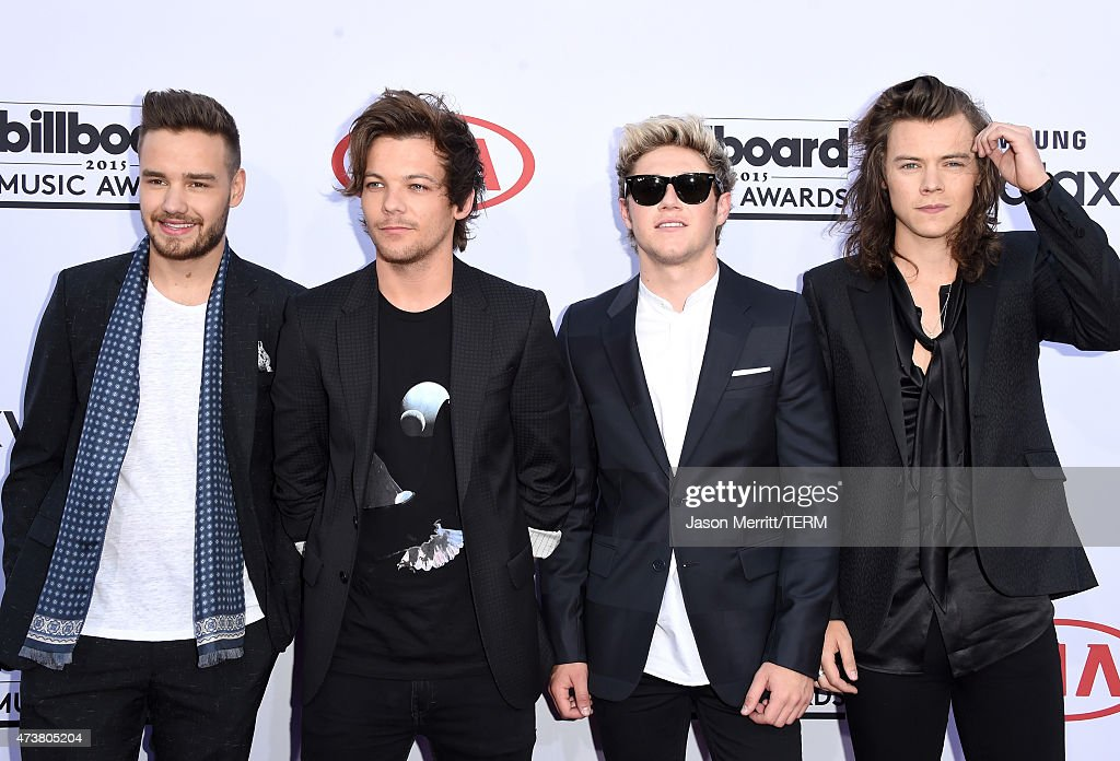 Singers Liam Payne, Louis Tomlinson, Niall Horan, and Harry Styles of One Direction attend the 2015 Billboard Music Awards at MGM Grand Garden Arena on May 17, 2015 in Las Vegas, Nevada.