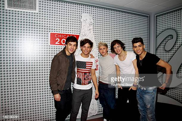 Singers Liam Payne Louis Tomlinson Niall Horan Harry Styles and Zayn Malik of the BritishIrish boy band One Direction performs in the KISSFM...