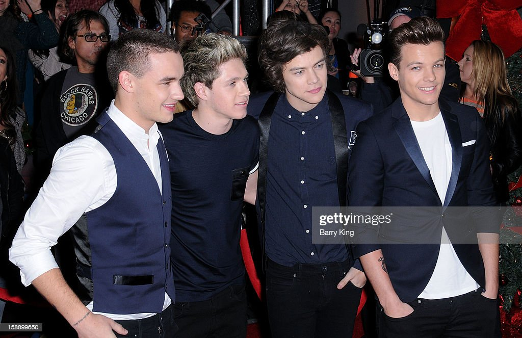 Singers Liam Payne, Niall Horan, Harry Styles and Louis Tomlinson of One Direction attend the season finale of Fox's 'The X Factor' at CBS Television City on December 20, 2012 in Los Angeles, California.