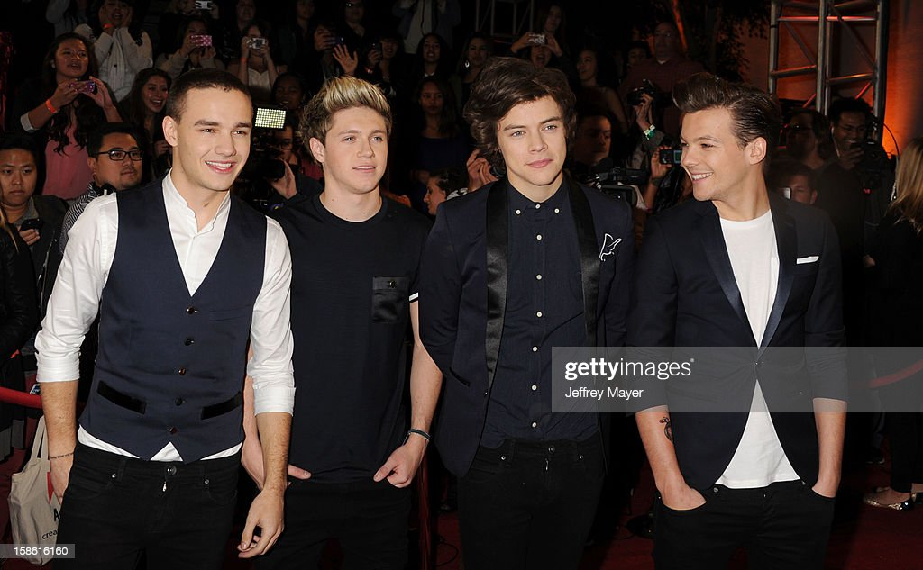 Singers Liam Payne, Niall Horan, Harry Styles, Louis Tomlinson of One Direction attend the FOX's 'The X Factor' Season Finale - Night 2 at CBS Television City on December 20, 2012 in Los Angeles, California.