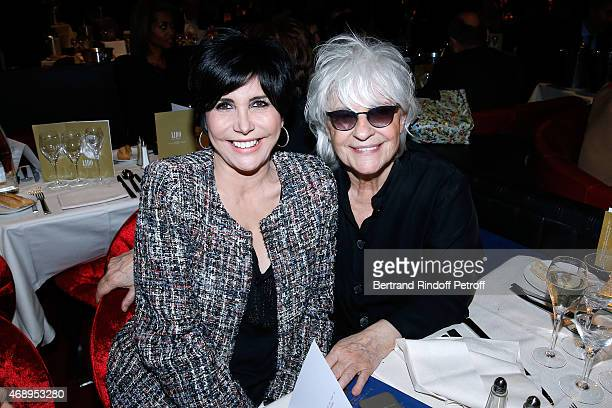 Singers Liane Foly and Catherine Lara attend the 'Paris Merveilles' Lido New Revue Opening Gala on April 8 2015 in Paris France