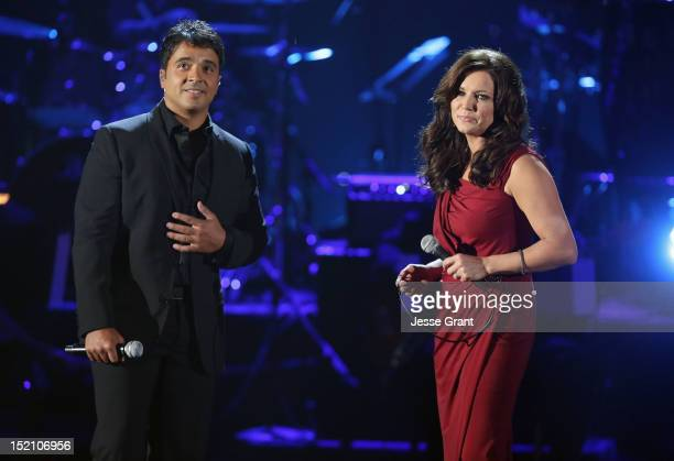 Singers Luis Fonsi and Martina McBride perform onstage at the 2012 NCLR ALMA Awards at Pasadena Civic Auditorium on September 16 2012 in Pasadena...