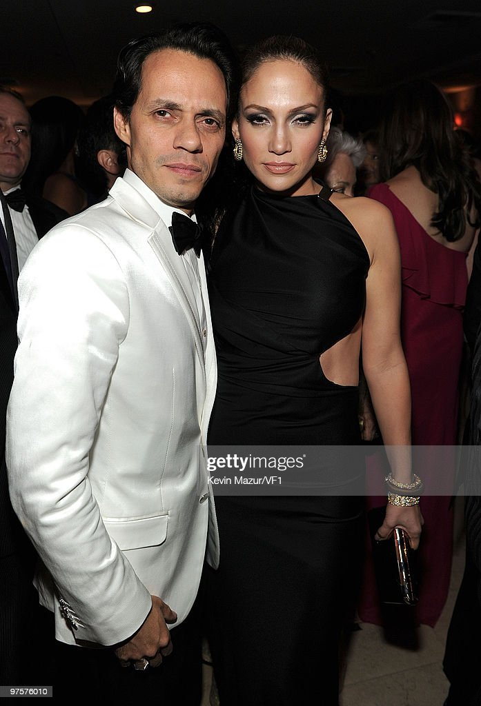 *EXCLUSIVE* Singers Marc Anthony and Jennifer Lopez attend the 2010 Vanity Fair Oscar Party hosted by Graydon Carter at the Sunset Tower Hotel on March 7, 2010 in West Hollywood, California.