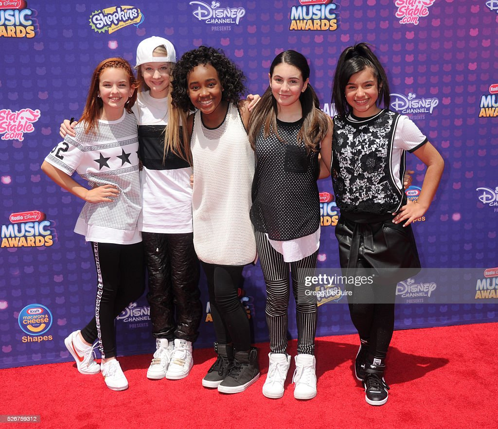 Singers Mariangeli, McKenzie, Lexi, Tati and Jenna of L2M arrive at the 2016 Radio Disney Music Awards at Microsoft Theater on April 30, 2016 in Los Angeles, California.
