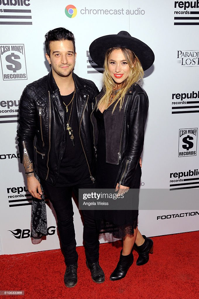 Singers Mark Ballas and BC Jean attends the Republic Records Grammy Celebration presented by Chromecast Audio at Hyde Sunset Kitchen Cocktail on...