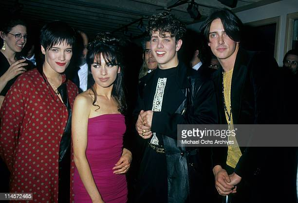 Singers Martika Suzanna Hoffs Joey McIntyre of New Kids On The Block and Donovan Leitch circa 1990
