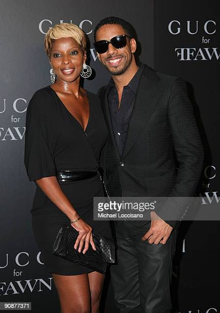 Singers Mary J Blige and Ryan Leslie attends the Gucci cocktail party for Ffawn at Gucci Fifth Avenue on September 16 2009 in New York City