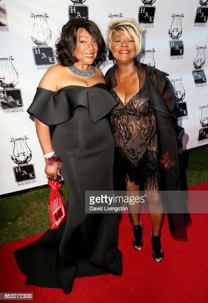 Singers Mary Wilson and Thelma Houston attend the 28th Annual Heroes and Legends Awards at Beverly Hills Hotel on September 24 2017 in Beverly Hills...