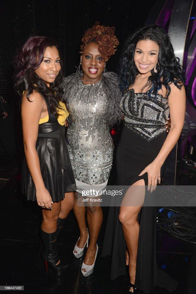 Singers Melania Fiona, Ledisi, and Jordan Sparks attend 'VH1 Divas' 2012 at The Shrine Auditorium on December 16, 2012 in Los Angeles, California.