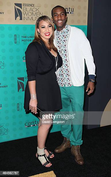 Singers Melanie Amaro and Trace Kennedy attend Essence Magazine's 5th Annual Black Women in Music event at 1 OAK on January 22 2014 in West Hollywood...