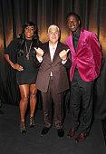 Singers Mica Paris Mitch Winehouse and The Voice UK 2014 winner Jermain Jackman attend 'An Evening With Mitch Winehouse' in aid of the Amy Winehouse...