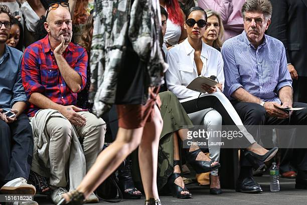 Singers Michael Stipe and Alicia Keys attend Edun Spring 2013 at Skylight Studios at Moynihan Station on September 8 2012 in New York City