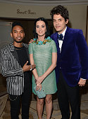 Singers Miguel and Katy Perry and musician John Mayer attend Sony Music Grammy Reception at Bar Nineteen 12 on February 10 2013 in Beverly Hills...