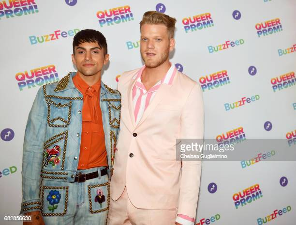 Singers Mitch Grassi and Scott Hoying of Pentatonix attend Buzzfeed hosts the 1st Inaugural Queer Prom for LGBT Youth in Los Angeles at Siren Studios...