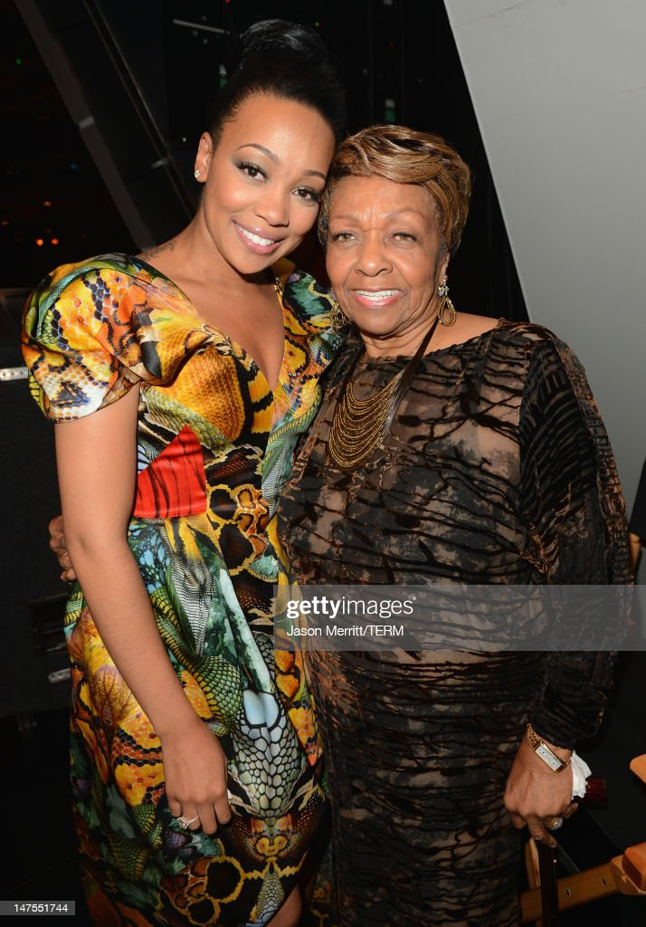 Singers Monica and <a gi-track='captionPersonalityLinkClicked' href=/galleries/search?phrase=Cissy+Houston&family=editorial&specificpeople=1019962 ng-click='$event.stopPropagation()'>Cissy Houston</a> attend the 2012 BET Awards at The Shrine Auditorium on July 1, 2012 in Los Angeles, California.