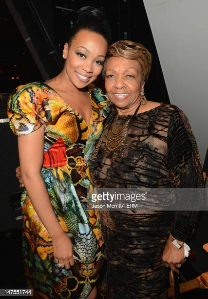Singers Monica and Cissy Houston attend the 2012 BET Awards at The Shrine Auditorium on July 1 2012 in Los Angeles California