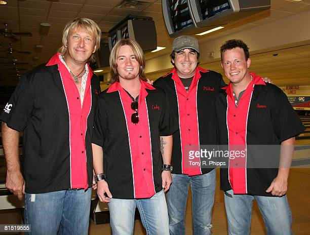 Singers Musicians Lonestar Hosts the Strike Out For Kids Bowling Bash during the 2008 CMA Music Festival on June 2 2008 at Hermitage Lanes in...