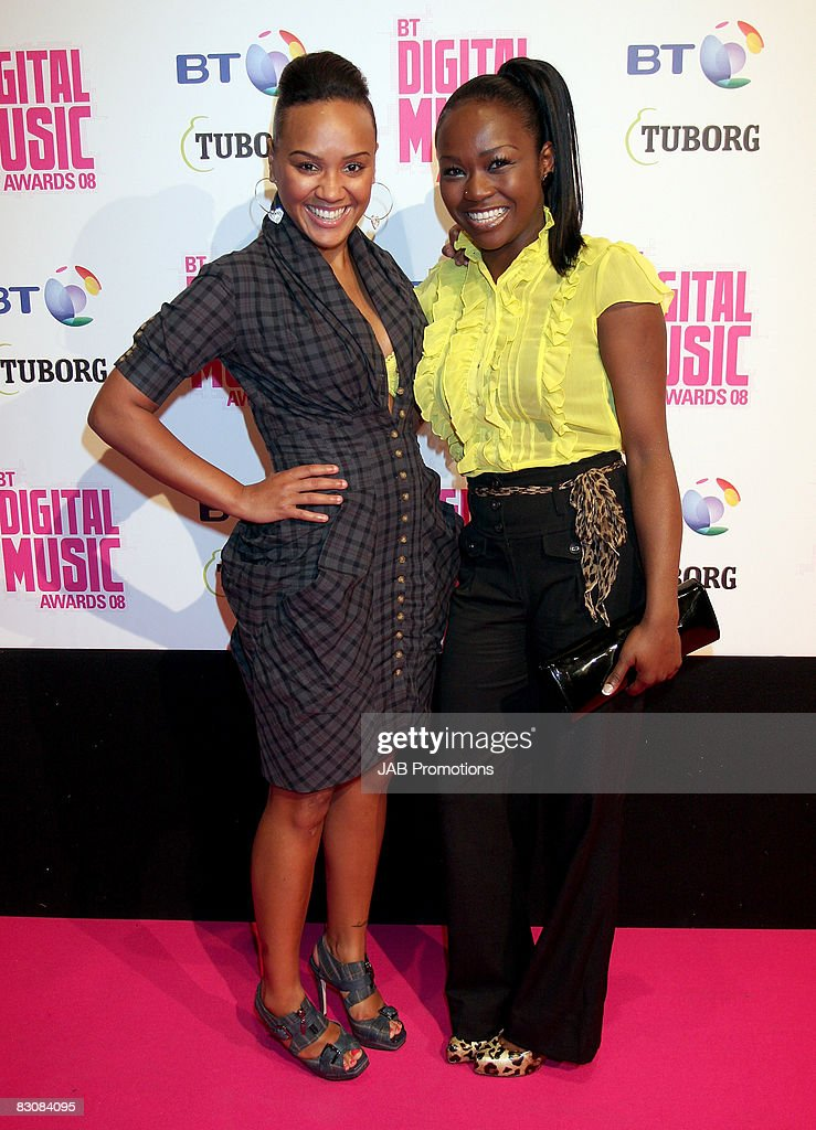 Singers Nadia Shepherd and Cherise Roberts from Booty Luv attend the BT Digital Music Awards 2008 held at The Roundhouse on October 1 2008 in London...