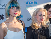 Singers Nadya Tolokonnikova and Masha Alekhina of Pussy Riot attend the Greenwich International Film Festival's Changemaker Gala at L'Escale...