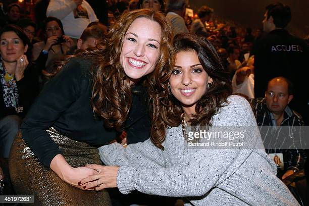 Singers Natasha StPier and Tal attend the Celine Dion concert at Palais Omnisports de Bercy on November 25 2013 in Paris France