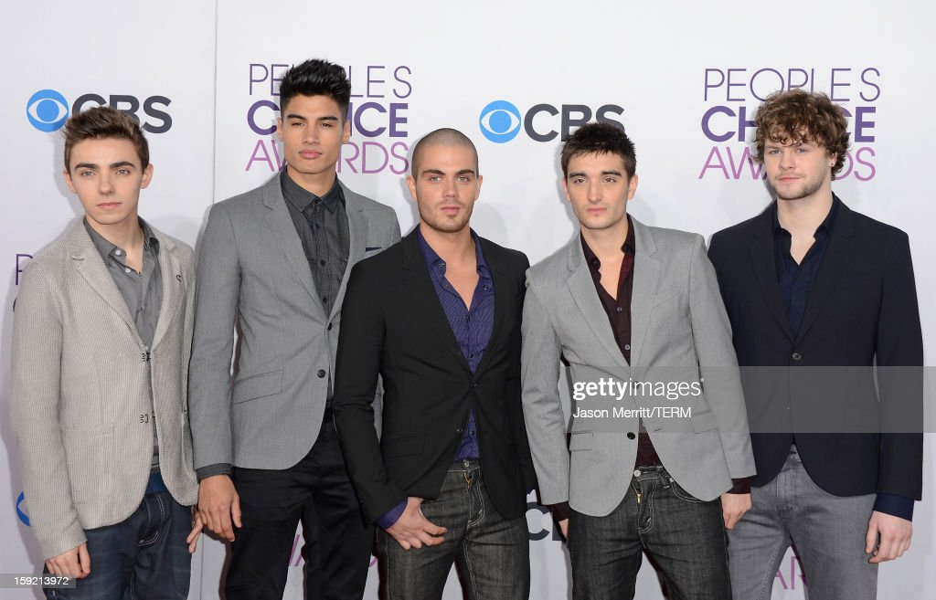 Singers Nathan Sykes, Siva Kaneswaran, Max George, Tom Parker and Jay McGuiness of The Wanted attend the 39th Annual People's Choice Awards at Nokia Theatre L.A. Live on January 9, 2013 in Los Angeles, California.