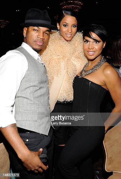 Singers NeYo Ciara and Toni Braxton during the 52nd Annual GRAMMY Awards Salute To Icons Honoring Doug Morris held at The Beverly Hilton Hotel on...