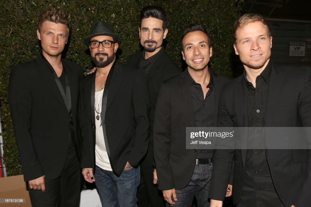 Singers <a gi-track='captionPersonalityLinkClicked' href=/galleries/search?phrase=Nick+Carter&family=editorial&specificpeople=201755 ng-click='$event.stopPropagation()'>Nick Carter</a>, A. J. McLean, Kevin Richardson, <a gi-track='captionPersonalityLinkClicked' href=/galleries/search?phrase=Howie+Dorough&family=editorial&specificpeople=204770 ng-click='$event.stopPropagation()'>Howie Dorough</a>, and <a gi-track='captionPersonalityLinkClicked' href=/galleries/search?phrase=Brian+Littrell&family=editorial&specificpeople=215310 ng-click='$event.stopPropagation()'>Brian Littrell</a> of the Backstreet Boys attends the Second Annual Hilarity For Charity benefiting The Alzheimer's Association at the Avalon on April 25, 2013 in Hollywood, California.