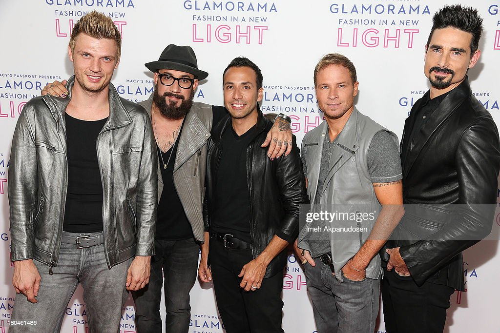 Singers Nick Carter AJ McLean Howie Dorough Brian Littrel and Kevin Richardson of Backstreet Boys attend Glamorama presented by Macy's Passport at...