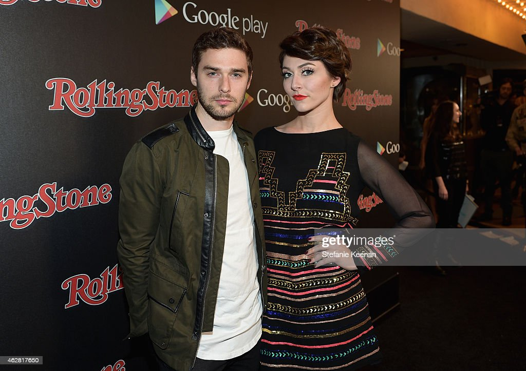 Singers Nick Noonan and Amy Heidemann of Karmin attend Rolling Stone and Google Play event during Grammy Week at the El Rey Theatre on February 5...