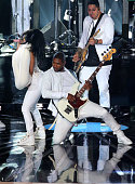 Singers Nicki Minaj and Usher perform onstage during the 2014 MTV Video Music Awards at The Forum on August 24 2014 in Inglewood California