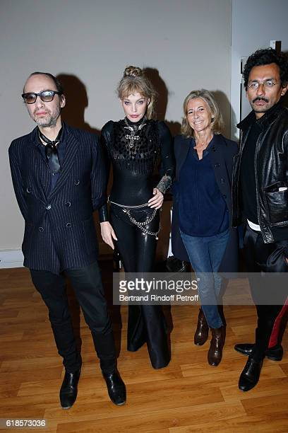 Singers Nicolas Ker Arielle Dombasle Journalist Claire Chazal and Stylist Haider Ackermann attend Arielle Dombasle and Nicolas Ker perform for the...