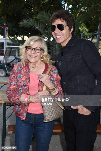 Singers Nicoletta and Jean luc Lahaye attend La Fete des Tuileries on June 23 2017 in Paris France