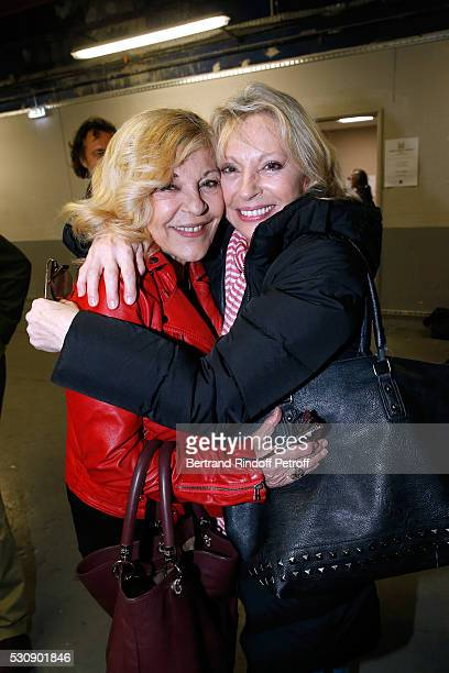Singers Nicoletta and Veronique Sanson attend Michel Polnareff performs at AccorHotels Arena Bercy Day 4 on May 11 2016 in Paris
