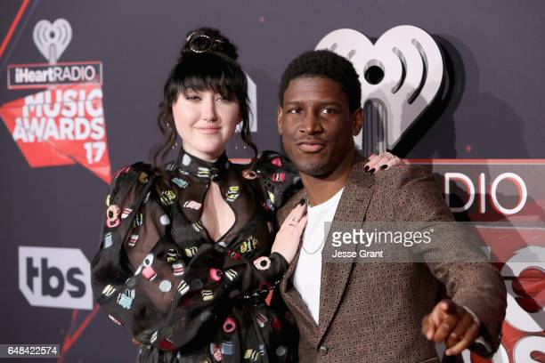 Singers Noah Cyrus and Labrinth attend the 2017 iHeartRadio Music Awards which broadcast live on Turner's TBS TNT and truTV at The Forum on March 5...