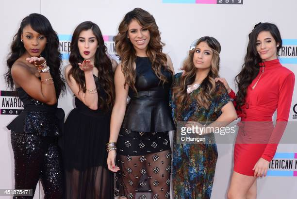 Singers Normani Kordei Lauren Jauregui Dinah Jane Hansen Ally Brooke and Camila Cabello of Fifth Harmony arrive at the 2013 American Music Awards at...