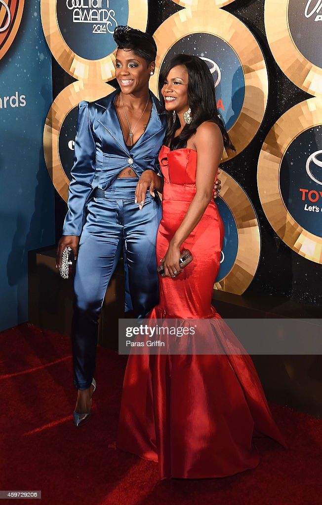 Singers Pamela Long and Kima Raynor of Total attends the 2014 Soul Train Music Awards at the Orleans Arena on November 7, 2014 in Las Vegas, Nevada.